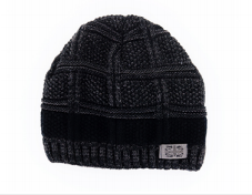 Image For Hat Beanie Men's Knit with Stripe