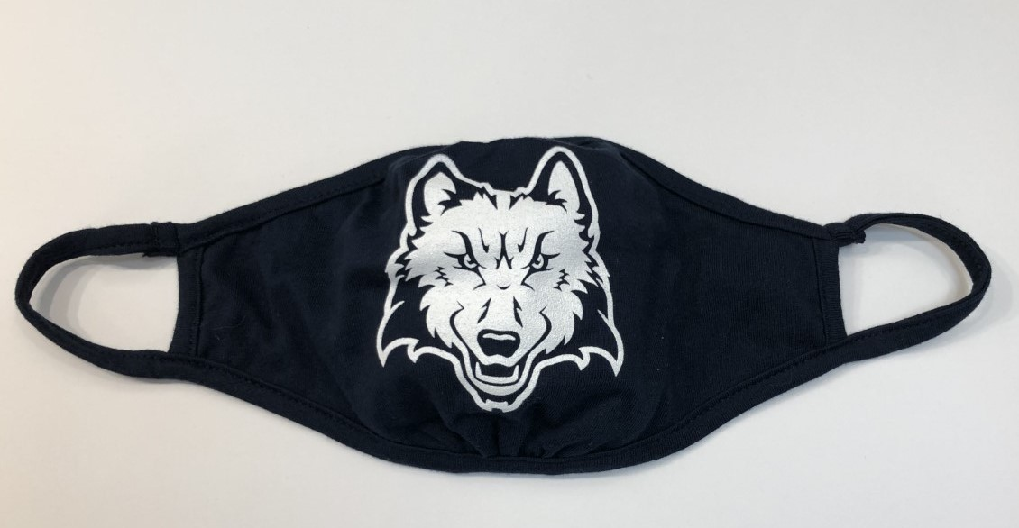 Image For Face Mask Wolfie Navy Blue
