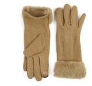 Image For Gloves Fleece with Faux Fur Cuffs