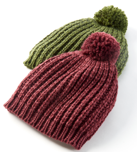 Image For Hat/Infinity Scarf Set With Poms